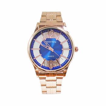 【Daniel Wang】簡約精緻鏤空錶面時尚腕錶  (摩登藍 )