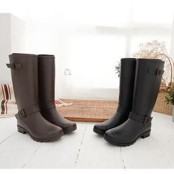 《DOOK》歐美風格率性長筒防水雨靴-2色