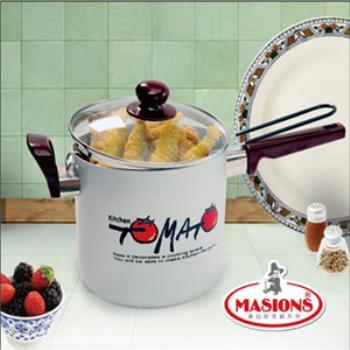 【美心 Masions】珍珠鍋系列-多功能料理鍋18cm(珍珠銀)