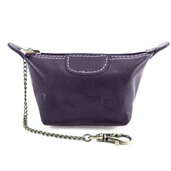 Sika義大利時尚真皮經典水餃零錢包A8290-07木槿紫