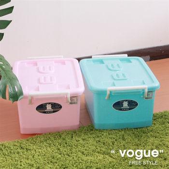 【vogue】C300彩瓷滑輪整理箱SS12L(3入)