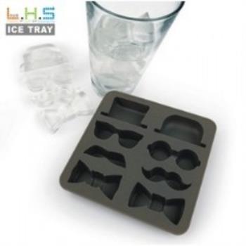 窩自在★紳士造型製冰格/長方形冰杯/製冰盒