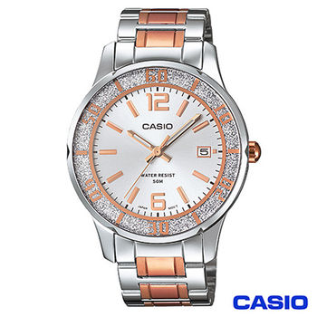 CASIO卡西歐 典雅玫金系風格鋼帶女錶 LTP-1359RG-7A