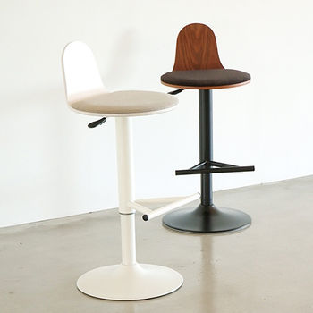 《舒適屋》簡約布面圓升降吧台椅/高腳椅(2色可選)