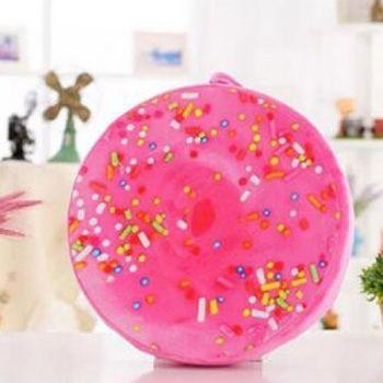 窩自在★創意3D仿真水果柔絨坐墊/抱枕/靠枕-甜甜圈