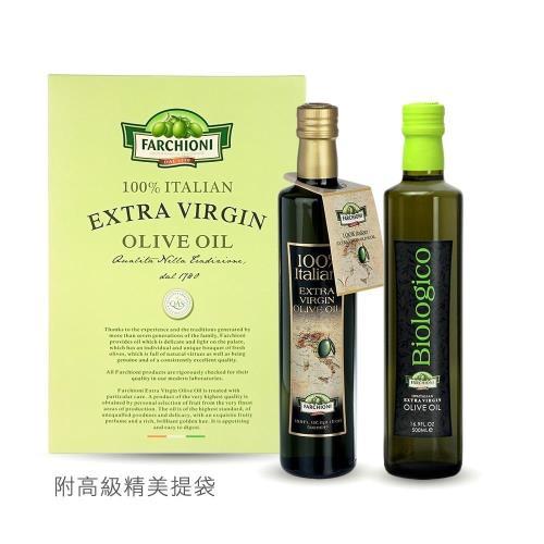 義大利原裝【法奇歐尼】義大利莊園冷壓第一道橄欖油500ml*2入