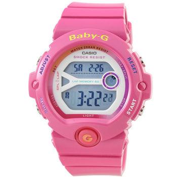 CASIO 卡西歐Baby-G 少女時代電子錶-桃紅 / BG-6903-4B
