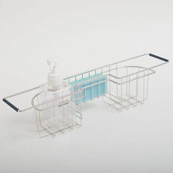 《舒適屋》 不鏽鋼水槽側邊掛籃/伸縮掛籃