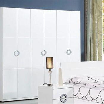 【H&D】 凱倫7x7尺白色組合衣櫃