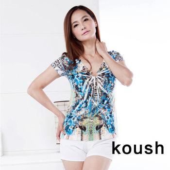 【kuosh】夏日璀璨之星花版上衣(FA-1047)