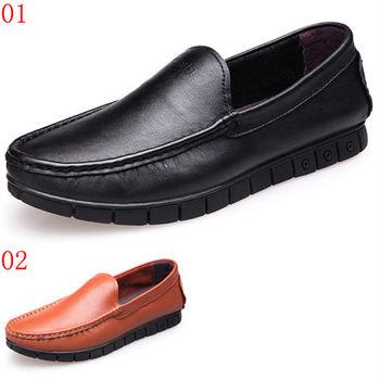 (預購)【CARTELO卡帝樂鱷魚】87103AA男鞋真皮鞋子透氣軟面皮駕車鞋男士休閒豆豆鞋(JHS杰恆社)