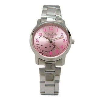 HELLO KITTY 等愛的心情休閒時尚優質腕錶-粉面-LK556LWPA-1