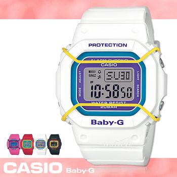 【CASIO卡西歐BABY-G系列】復古風系列_防撞設計保護鏡面_亮色女錶_學生錶_中性錶(BGD-501)