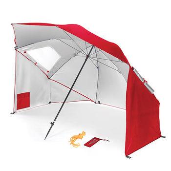 戶外多功能 抗紫外線 沙灘遮陽帳篷傘 紅色