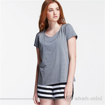【ohoh-mini】動感活力條紋成套哺乳休閒服