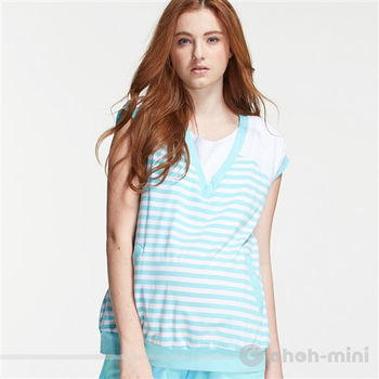 【ohoh-mini】運動風休閒短褲孕哺套裝