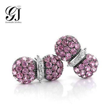 [晉佳珠寶] Gemdealler Jewellery 完美時尚 天然剛玉18k金耳環