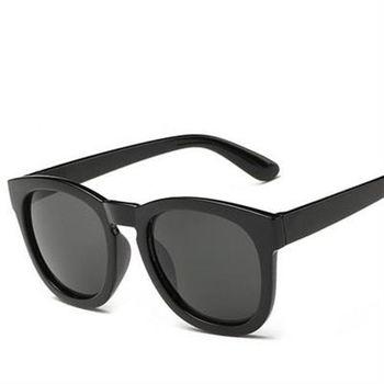 【米蘭精品】太陽眼鏡偏光墨鏡透明炫彩時尚圓框男女款11色