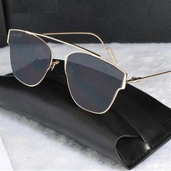 【米蘭精品】太陽眼鏡偏光墨鏡金屬質感復古風格男女款8色