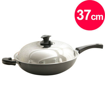 清水 晶鑽奈米炒鍋37CM(單把)