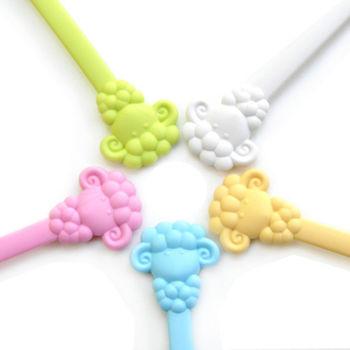 【Cornflower】快樂森林家族-溫暖綿羊湯匙叉子組-5色/組