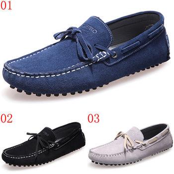(預購)【CARTELO卡帝樂鱷魚】C6017英倫透氣潮鞋子反絨皮休閒鞋軟底懶人豆豆鞋(JHS杰恆社)