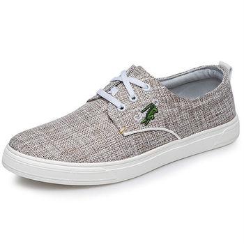 (預購)【CARTELO卡帝樂鱷魚】C3907男鞋子韓版潮流帆布鞋學生運動休閒鞋平跟板鞋(JHS杰恆社)