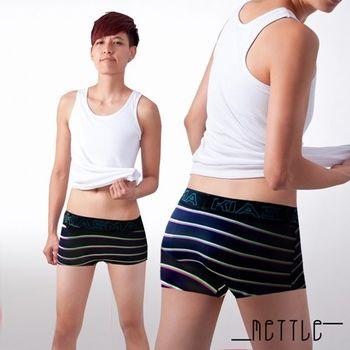 【METTLE】中性深色條紋平口內褲(寬條紋)