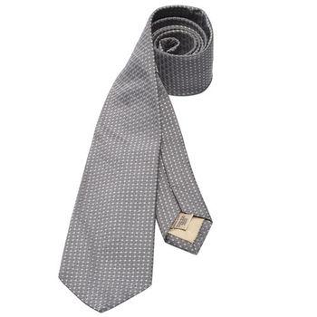 BURBERRY 經典格紋交織絲質領帶(灰)