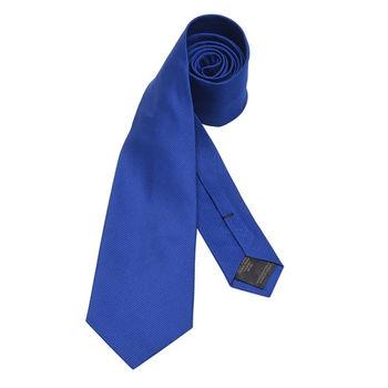 BURBERRY 經典斜紋素面絲質領帶(皇家藍)