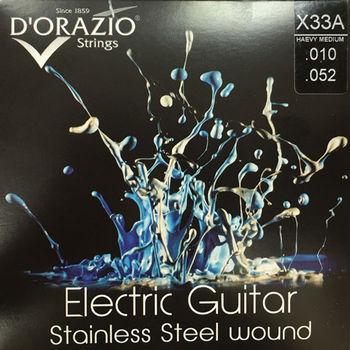 義大利手工製 DORAZIO 不鏽鋼材質 電吉他弦(No.X33A)