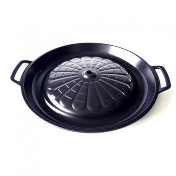 【韓國】烤肉銅盤烤盤/精籌不沾烤盤 (可替代銅盤使用)-無油煙(33cm)PA839