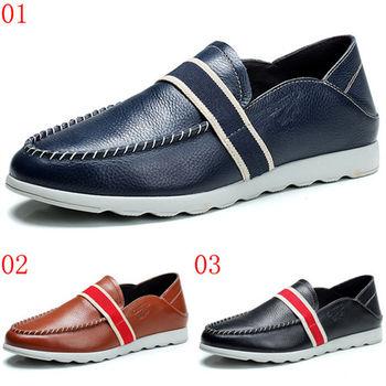(預購)【CARTELO卡帝樂鱷魚】10003AA男士休閒鞋男鞋真皮鞋子樂福潮鞋英倫透氣板鞋子(JHS杰恆社)
