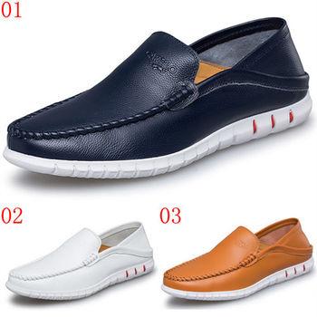 (預購)【CARTELO卡帝樂鱷魚】96103AA男士豆豆鞋真皮鞋子休閒皮鞋男駕車鞋英倫潮鞋(JHS杰恆社)