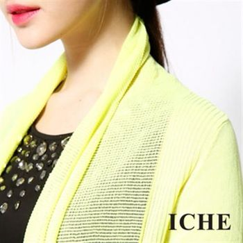 【ICHE 衣哲】亮色短袖針織外套