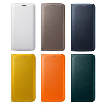 Samsung Galaxy S6 Edge 原廠側掀式皮套 (綠色)
