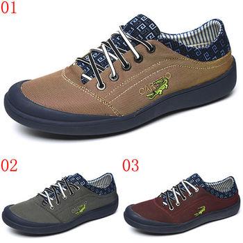 (預購)【CARTELO卡帝樂鱷魚】7503131056男鞋子休閒鞋韓版潮流布鞋男士帆布鞋復古潮鞋(JHS杰恆社)