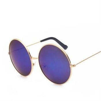 【米蘭精品】太陽眼鏡偏光墨鏡時尚經典圓框造型男款8色