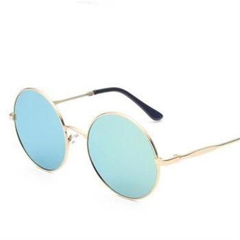 【米蘭精品】太陽眼鏡偏光墨鏡潮流個性圓形邊框男款5色