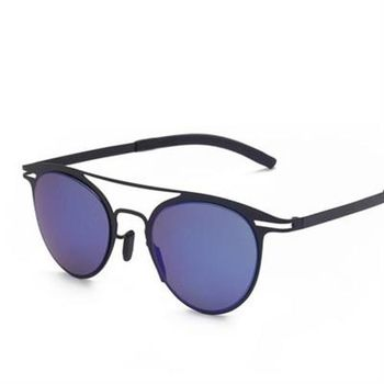 【米蘭精品】太陽眼鏡偏光墨鏡雙樑金屬露框設計男款5色