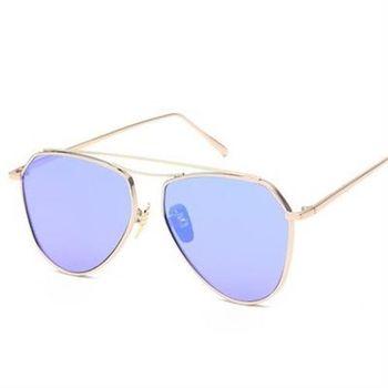 【米蘭精品】太陽眼鏡偏光墨鏡流線造型俐落大氣男女款6色