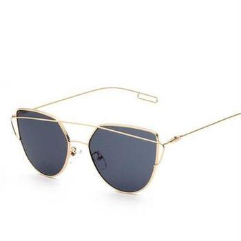 【米蘭精品】太陽眼鏡偏光墨鏡時尚雙樑獨特造型男女款6色