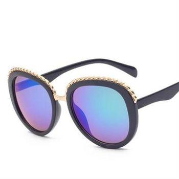 【米蘭精品】太陽眼鏡偏光墨鏡金屬邊框裝飾設計男女款6色