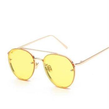 【米蘭精品】太陽眼鏡偏光墨鏡透明邊框時尚流行男女款7色