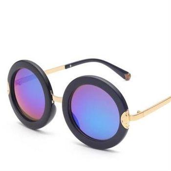 【米蘭精品】太陽眼鏡偏光墨鏡時尚圓框雙色設計男女款6色