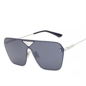 【米蘭精品】太陽眼鏡偏光墨鏡雙樑連體無框造型男女款6色