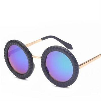 【米蘭精品】太陽眼鏡偏光墨鏡可愛圓框餅乾造型男女款6色