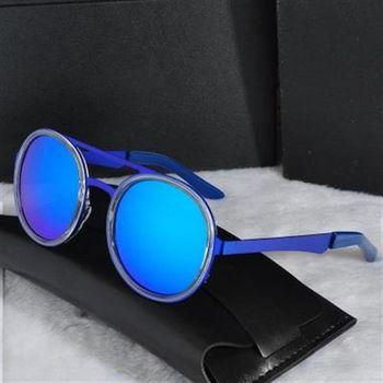 【米蘭精品】太陽眼鏡偏光墨鏡別緻氣質圓形框架男女款7色