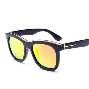 【米蘭精品】太陽眼鏡偏光墨鏡時尚方框金屬眉型男女款5色