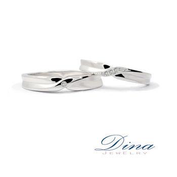 DINA JEWELRY 蒂娜珠寶 『纏綿愛戀』系列 結婚對戒_預購